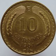 Chile 10 Centesimos 1961 UNC - Chile