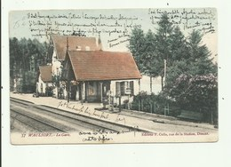Waulsort  -La  Gare - Station - Statie - Gelopen 1907 - Hastière
