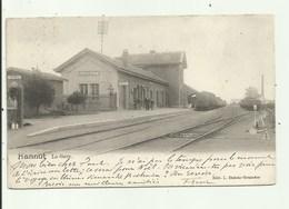 Hannut   -La  Gare - Station - Statie - Gelopen 1901 - Hannut