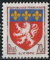 France 1958 Yv. N°1181 - Lyon - Oblitéré - 1941-66 Armoiries Et Blasons
