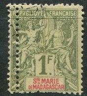 Ste Marie De Madagascar   Ob N° 13 Variété De Piquage - Oblitérés