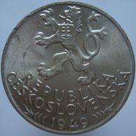 Czechoslovakia 100 Korun 1949 UNC - Silver - Czechoslovakia