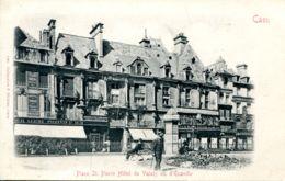 N°72583 -cpa Caen -place St Pierre Hôtel De Valois Ou D'Ecaville - Caen