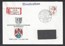 Chess, Germany Winterberg, 11.06.1992, Special Cancel & Cachet On Envelope - Echecs