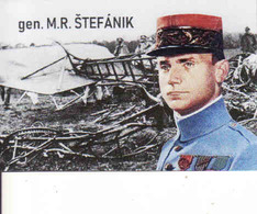 Magnet - Slovakia, General Milan Rastislav Štefánik + Airplane Caproni - Characters