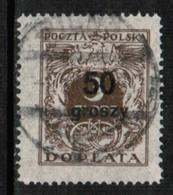 POLAND  Scott # J 91 VF USED (Stamp Scan # 496) - 1919-1939 Republic