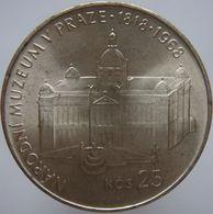 Czechoslovakia 25 Korun 1968 UNC Scarce - Silver - Tchécoslovaquie