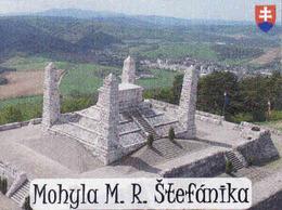 Magnet - Slovakia, Mohyla - General Milan Rastislav Štefánik - Brezová Pod Bradlom, Wappon - Tourisme