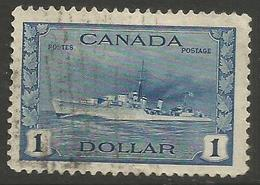 Canada - 1942 HMS Cossack $1 Used  SG 388 - Used Stamps