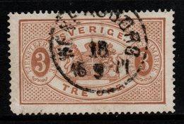 R350. SWEDEN 1874-1877 - SC#: O1 - USED - OFFICIAL STAMP - SCV: US$ 30.00 ++ - Service