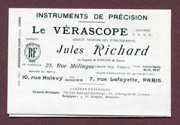 """PARIS : """" LE VERASCOPE Jules Richard - Instruments De Précision """"  1922 - Advertising"""