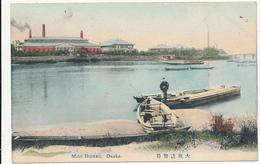 JAPAN - Mint Bureau, Osaka. - (  Boats, River ) - Hand Colored - Osaka