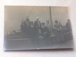Photo Carte La Mer Le Littoral La Côte  Excursion Avec Bateau 1923 - Nieuwpoort