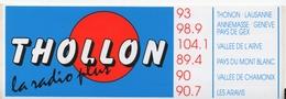 Autocollant Thollon La Radio Plus (Thonon, Annemasse, Chamonix, Vallée De L'Arve, Aravis) - Stickers