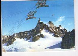 U4447 Cartolina FUNIVIA DEL MONTE BIANCO - Funiqulaire, Seilbahn + NICE TIMBRE _ 551 Ed SACAT - Italia