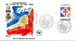 Thème Général De Gaulle - Bureau Temporaire BOULOGNE SUR MER - 17 & 18 Juin 1990 - X 1142 - De Gaulle (Général)