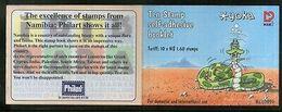Namibia 1999 Yoka Etosha Cartoon Snake Reptiles M/s Sc 931a Booklet # 6328 - Namibia (1990- ...)