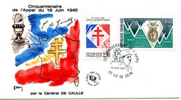 Thème Général De Gaulle - Bureau Temporaire ILE DE SEIN - 18 Juin 1990 - X 1144 - De Gaulle (Général)