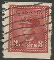 Canada - 1942 King George VI 3c Perf 8 Vertically Used  SG 391 - Used Stamps