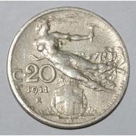 ITALY - 20 CENTESIMI 1911 R - TRES TRES BEAU - - 1861-1946 : Kingdom