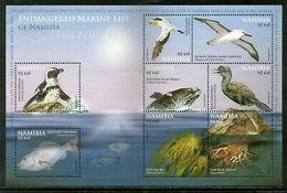 Namibia 2011 Endangered Marine Life Penguin Birds Fish M/s Sc 1206 MNH # 7698 - Namibia (1990- ...)