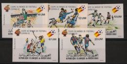 Mauritanie - 1980 - PA N°Yv. 195 à 199 - Football - Non Dentelé / Imperf. - Neuf Luxe ** / MNH / Postfrisch - 1982 – Espagne