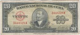 Cuba 20 Pesos 1949 Pk 80 A Ref 607-10 - Cuba