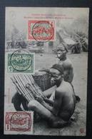 Congo Français Musiciens Lindas  Cpa Bien Timbrée - Congo Français - Autres