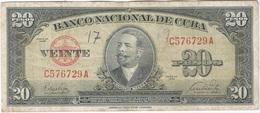 Cuba 20 Pesos 1949 Pk 80 A Ref 12 - Cuba