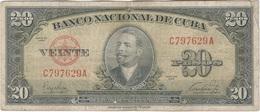 Cuba 20 Pesos 1949 Pk 80 A Ref  607-12 - Cuba