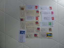 750 FLAMMES DE FRANCE - Poststempel (Briefe)