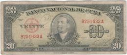 Cuba 20 Pesos 1949 Pk 80 A Ref 607-5 - Cuba