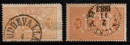 R362. SWEDEN 1881-1893 - SC#: O21, O21a - USED - OFFICIAL STAMP - SCV: US$ 31.50 ++ - Service