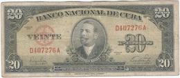 Cuba 20 Pesos 1949 Pk 80 A Ref 15 - Cuba