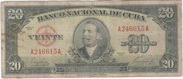 Cuba 20 Pesos 1949 Pk 80 A Ref 16 - Cuba