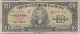 Cuba 20 Pesos 1949 Pk 80 A Ref 17 - Cuba