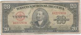 Cuba 20 Pesos 1949 Pk 80 A Ref 607-7 - Cuba