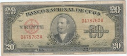 Cuba 20 Pesos 1949 Pk 80 A Ref 607-8 - Cuba