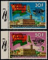~~~ Comores Comoro Islands 1978 - Aviation ICAO First Flight Wright - Mi. 448/449 ** MNH  ~~~ - Comoren (1975-...)