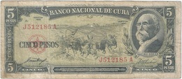 Cuba 5 Pesos 1958 Pk 91 A Ref 20 - Cuba