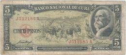 Cuba 5 Pesos 1958 Pk 91 A Ref 609-2 - Cuba