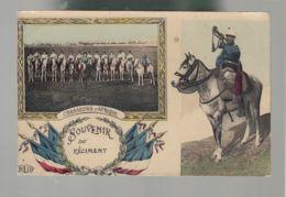 CPA (Milit.) Chasseurs D'Afrique - Souvenir Du Régiment - Regiments