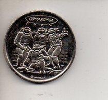REF 1 : Medaille Monnaie Tortues Ninha Tortue Foot Soldier Cowabunga - Other