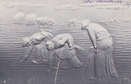 LES GLANEUSES D APRES MILLET CARTE GAUFFREE - Peintures & Tableaux