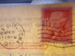 Marcophilie  Cachet Lettre Obliteration -  Perforé IU Sur Entier Postal  - 1957 (2430) - United States