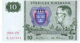 Sweden P.52 10  Kroner  1983 Unc - Svezia