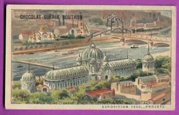 Chromo CHOCOLAT GUERIN BOUTRON - EXPOSITION PROJET 1900 - Cours La Reine - Expo Horticulture De La Ville De Paris 1 - Guérin-Boutron