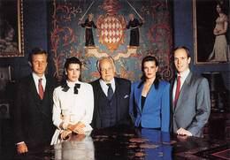 MONACO - Le Prince Rainier III, Le Prince Albert, La Princesse Caroline, La Princesse Stéphanie, M. Stefano Casiraghi - Palacio Del Príncipe