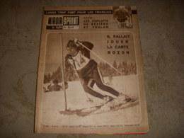MIROIR SPRINT 820 19.02.1962 SKI CHAMONIX BOZON CYCLOCROSS CHPT MONDE LONGO - Sport