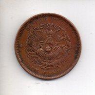 REF 1 : Monnaie Coin China Chine Hu Peh Province Dragon Ten Cash - China